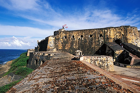 image 1-350-62 Puerto Rico, San Juan, El Morro, El Castillo San Felipe del Morro, 1549