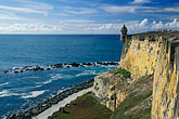 historical district stock photography | Puerto Rico, San Juan, El Morro, (El Castillo San Felipe del Morro), 1549, image id 1-350-82