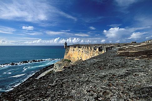 image 1-350-83 Puerto Rico, San Juan, El Morro, El Castillo San Felipe del Morro, 1549