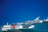 in line stock photography | Puerto Rico, San Juan, Cruise ships in harbor, image id 1-351-69