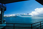 pier stock photography | Puerto Rico, San Juan, Cruise ships in harbor, image id 1-351-78
