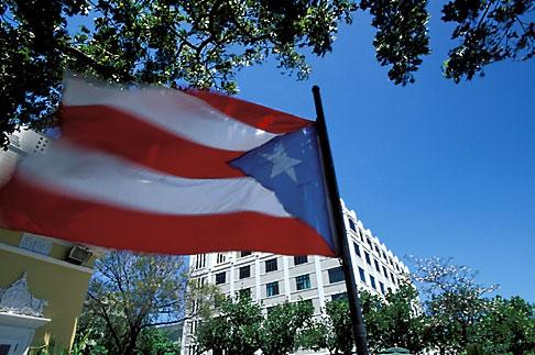 image 1-352-78 Puerto Rico, San Juan, Puerto Rican flag