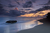 sunset on beach stock photography | Puerto Rico, Rinc�n, Sunset on beach, image id 1-353-12