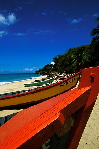image 1-353-81 Puerto Rico, Aguadilla, Fishing boats, Crashboat Beach