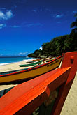 tropical caribbean beach stock photography | Puerto Rico, Aguadilla, Fishing boats, Crashboat Beach, image id 1-353-81