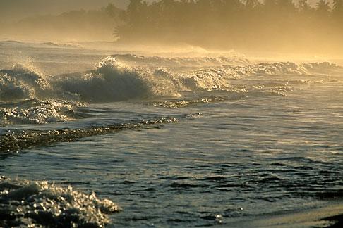 image 1-353-84 Puerto Rico, Isabela, Morning light on beach