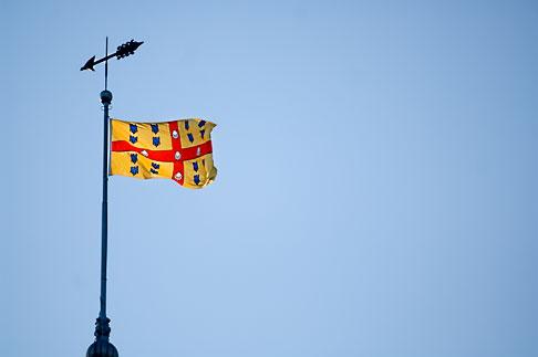 image 5-750-377 Canada, Quebec City, Flag of Laval, Seminary of Quebec