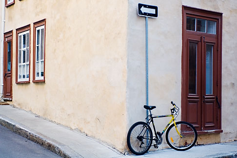 image 5-750-394 Canada, Quebec City, Bicycle outside house, Old Quarter