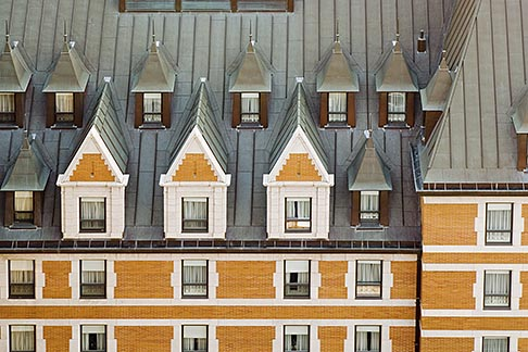 image 5-750-445 Canada, Quebec City, Chateau Frontenac, Gabled roof