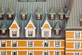window stock photography | Canada, Quebec City, Chateau Frontenac, Gabled roof, image id 5-750-445