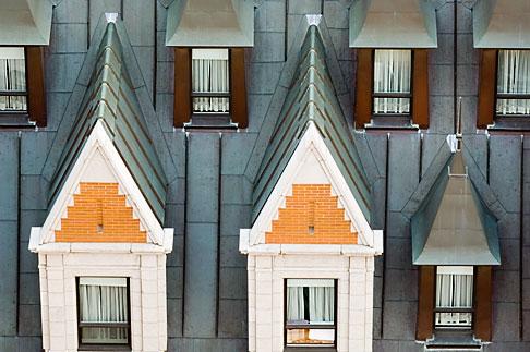 image 5-750-447 Canada, Quebec City, Chateau Frontenac, Gables