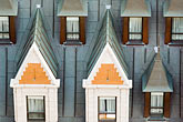 gabled roofs stock photography | Canada, Quebec City, Chateau Frontenac, Gables, image id 5-750-447