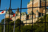 american flag stock photography | Canada, Quebec City, Chateau Frontenac, image id 5-750-8029
