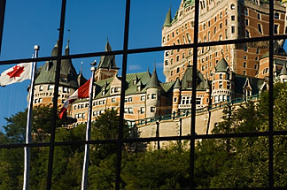 5-750-8029  stock photo of Canada, Quebec City, Chateau Frontenac