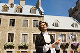 street fair stock photography | Canada, Quebec City, F�tes de la Nouvelle France,  Street theater, image id 5-750-8119
