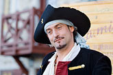 one man only stock photography | Canada, Quebec City, F�tes de la Nouvelle France, Pirate, image id 5-750-8186