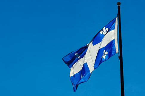 image 5-750-8246 Canada, Quebec City, Flag of Province of Quebec