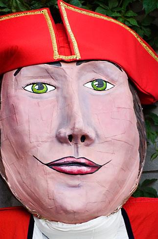 image 5-750-8326 Canada, Quebec City, Fetes de la Nouvelle France, Giant mask in parade