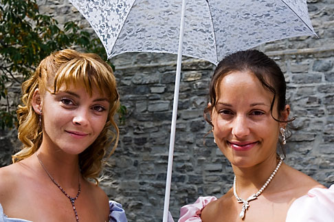 image 5-750-8505 Canada, Quebec City, Fetes de la Nouvelle France, Two young women