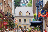 narrow street stock photography | Canada, Quebec City, Ftes de la Nouvelle France, Streets of Old Quebec, image id 5-750-8519