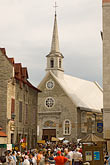 sky stock photography | Canada, Quebec City, Quebec, Church and Plaza, image id 5-750-8544