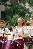 female stock photography | Canada, Quebec City, F�tes de la Nouvelle France, Drummers, image id 5-750-8563