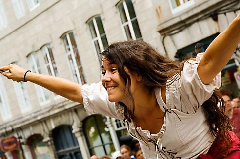 image 5-750-8588 Canada, Quebec City, Fetes de la Nouvelle France, Dancer