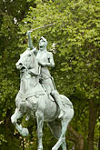 sunlight stock photography | Canada, Quebec City, Joan of Arc statue, image id 5-750-8753