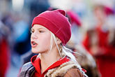 red headdress stock photography | Canada, Quebec City, F�tes de la Nouvelle France, Parade, image id 5-750-8909