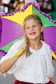 juvenile stock photography | Canada, Quebec City, Girl with Parasol, parade, image id 5-750-8979