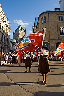 5-750-9022 stock photo of Canada, Quebec City, Fêtes de la Nouvelle France, Parade