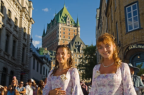 5-750-9045  stock photo of Canada, Quebec City, Fetes de la Nouvelle France, Parade