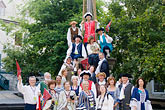 group stock photography | Canada, Quebec City, F�tes de la Nouvelle France, Group portrait, image id 5-750-9069