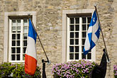 window stock photography | Canada, Quebec City, Flags, image id 5-750-9282