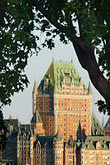 tree trunk stock photography | Canada, Quebec City, Chateau Frontenac, image id 5-750-9442