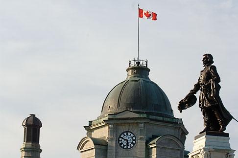 image 5-750-9622 Canada, Quebec City, Statue of Samuel de Champlain