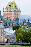 high angle view stock photography | Canada, Quebec City, Chateau Frontenac, image id 5-750-9825