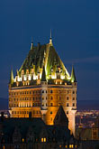 night scene stock photography | Canada, Quebec City, Chateau Frontenac, image id 5-750-9867