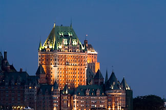 5-750-9898 stock photo of Canada, Quebec City, Chateau Frontenac