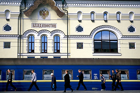 image 2-750-21 Russia, Vladivostok, Railway Station, Trans Siberian Railway