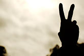 one person stock photography | California, San Francisco, Peace Sign, image id S4-390-2767