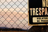prosecuted stock photography | Signs, No Trespassing, image id S4-400-2968