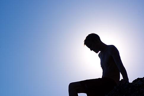 image S5-125-8618 Portrait, Silhouette of a man