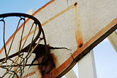worn stock photography | California, Albany, Basketball Hoop, image id S5-25-1959
