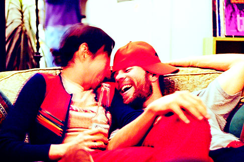 image S5-30-2142 California, Berkeley, Couple laughing