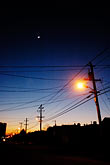 west stock photography | California, Oakland, Streetlights at dusk, image id S5-64-3706