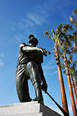 vertical stock photography | California, San Francisco, SBC Park, statue of Willie Mays, image id 0-501-69