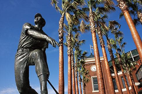 image 0-501-72 California, San Francisco, SBC Park, statue of Willie Mays