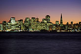 twilight stock photography | California, San Francisco Bay, San Francisco skyline from Treasure Island, image id 2-240-6