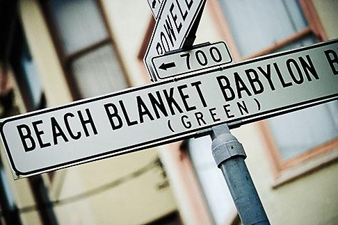 image 3-1012-17 California, San Francisco, Beach Blanket Babylon Street aka Green Street